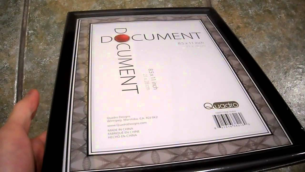 Review Quadro Document Frame Letter Size Staples 8 5 x 11 inch glass     Review Quadro Document Frame Letter Size Staples 8 5 x 11 inch glass cover