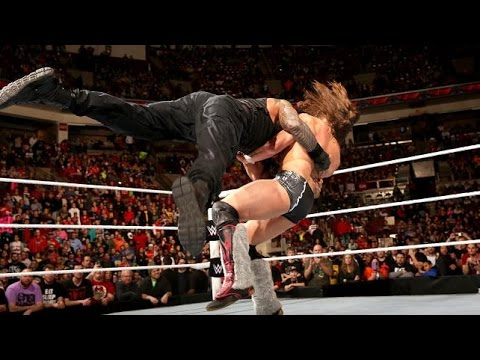 Roman Reigns Spears Daniel Bryan!! WWE Raw, 9th Feb, 2015 - YouTube