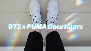 BTS x Puma Court Star unboxing & try on