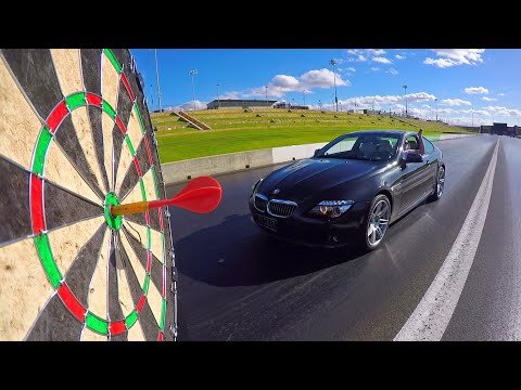IMPOSSIBLE DARTS BULLSEYE (OUT OF A CAR!!)