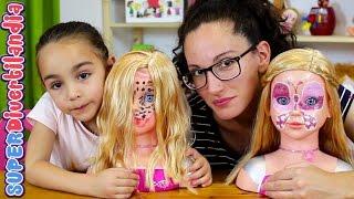 Reto de maquillaje con muñecas en SUPERDivertilandia! Juguete de peluqueria. thumbnail
