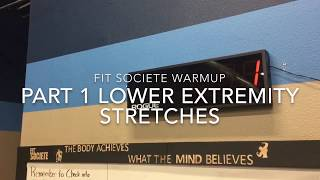 Fit Societe LE Warm Up Stretches