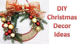 DIY. 3 Flower Wreath!!! How to Make Beautiful Paper Flower Wreath for Christmas Decoration!