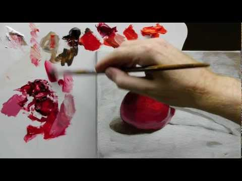 Beginners Acrylic Still Life Painting Techniques demo – Part 3