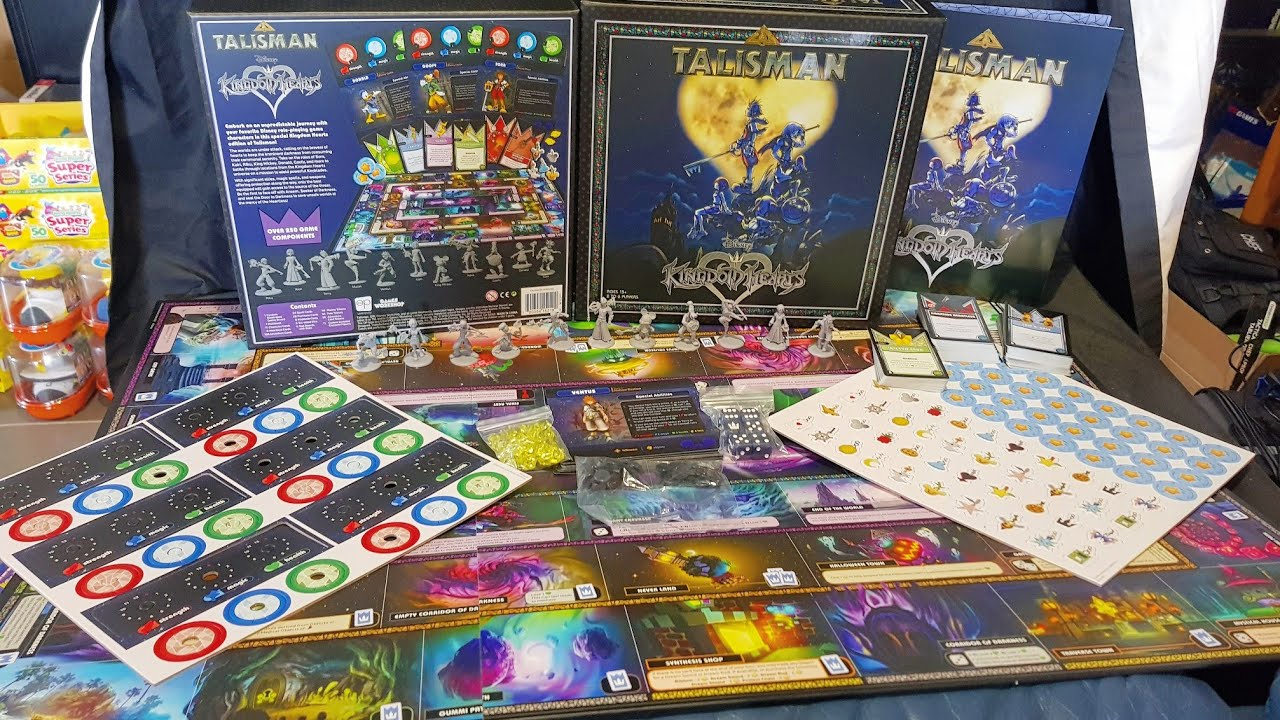 Unboxing Kingdom Hearts Talisman Board Game Youtube