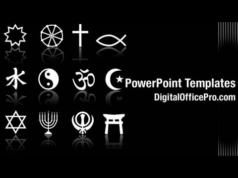 Religious Symbols Powerpoint Template Backgrounds