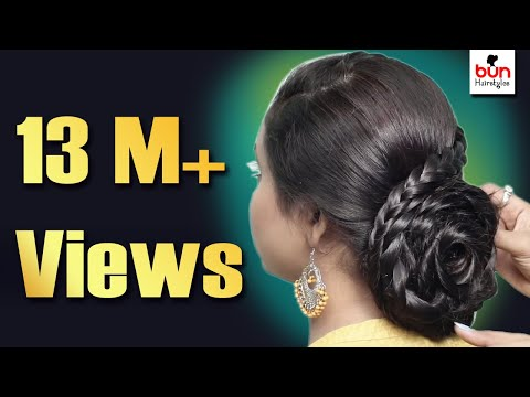 Quick & Easy Hairstyle for Wedding || Beautiful Heatless Hairstyle for Girls || Hair Style Girl