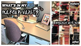 WHAT'S IN MY MAKEUP VANITY + Organize with Me!
