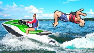 TEACHING ME TO JETSKI BACKFLIP!!