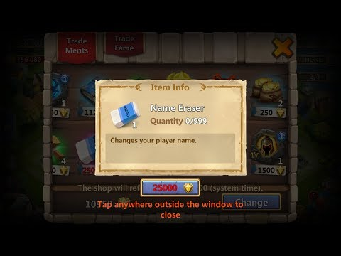 Change Name In Castle Clash 2018