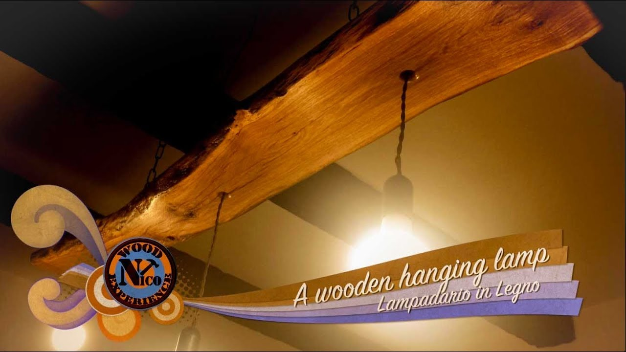 Lampadario In Legno Fai Da Te : Wooden hanging lamp diy lampadario in legno fai da te youtube