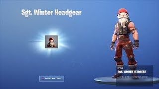 (UNLOCKING) NEW 'STG. Winter Headgear' (Fortnite Battle Royale)