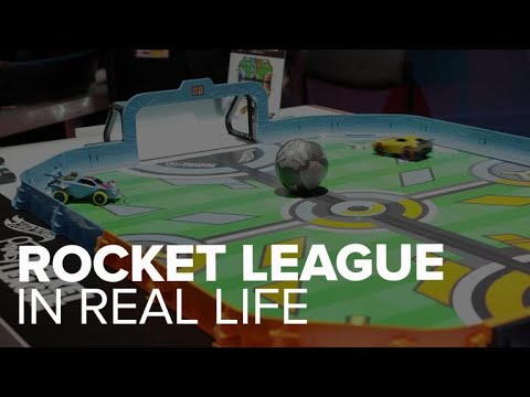 We played Rocket League in real life with Hot Wheels at Toy Fair