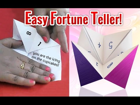 How To Make a Paper Fortune Teller - EASY Origami - YouTube | 360x480