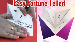 How to Make a Fortune Teller | Easy Origami Fortune Teller for Kids | Easy Kids Activities