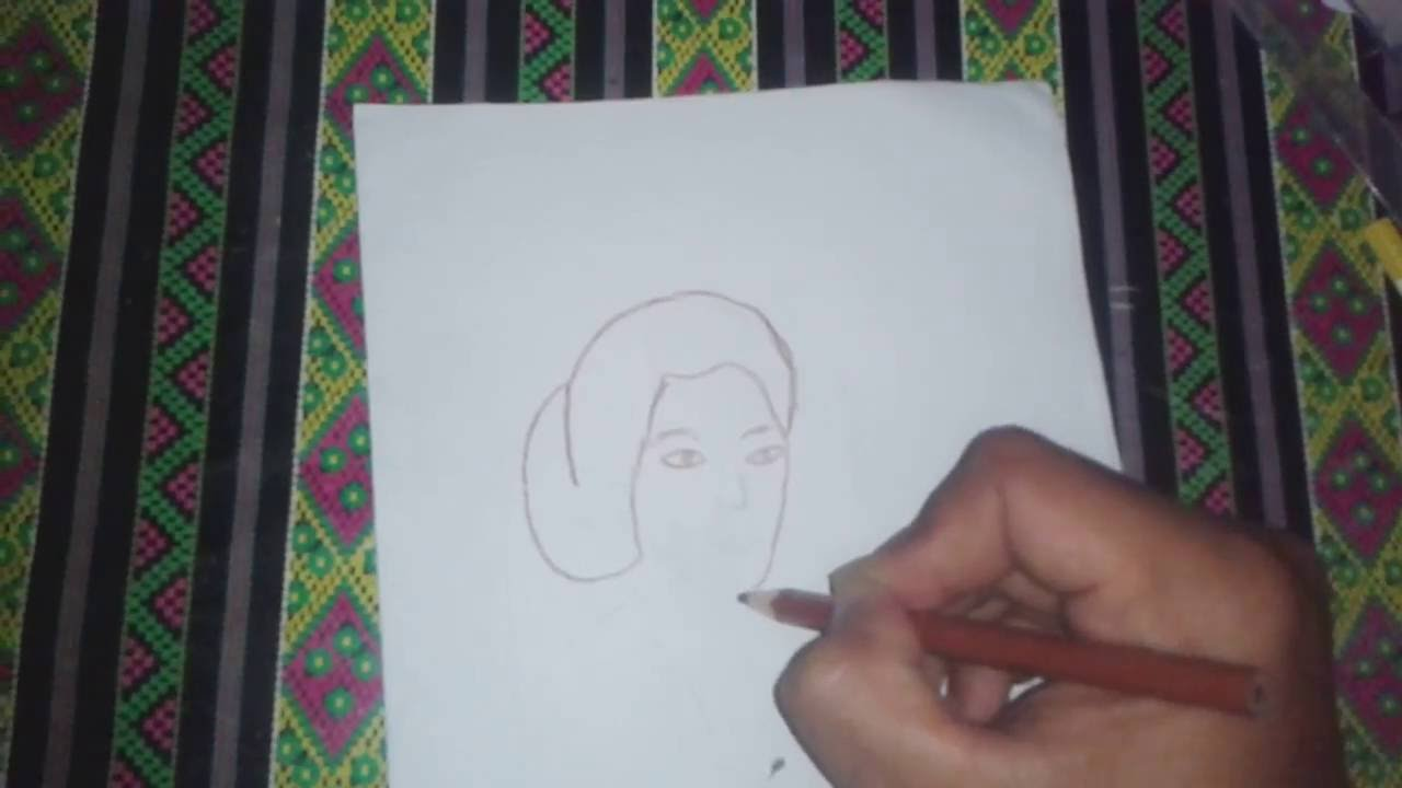 Cara Menggambar Orang Wajah RA KARTINI - YouTube