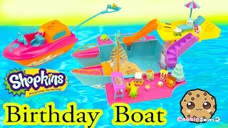 Shopkins Season 2 Birthday Party Boat with Pool + Water Ski Fun - Cookieswirlc Play Video