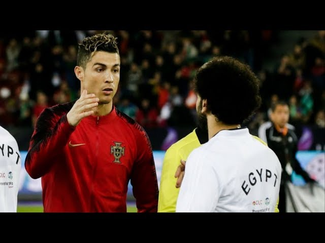 Cristiano Ronaldo Shows Mohamed Salah Who is The Boss