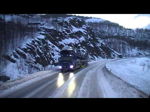 Driving up to the Arctic area in a Volvo-FH truck (Part 1)