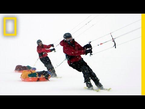 Sarah and Eric McNair-Landry: Kite-Skiing in the Arctic | Nat Geo Live