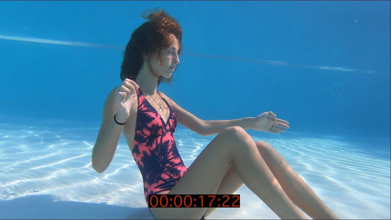 Carla underwater breath hold training