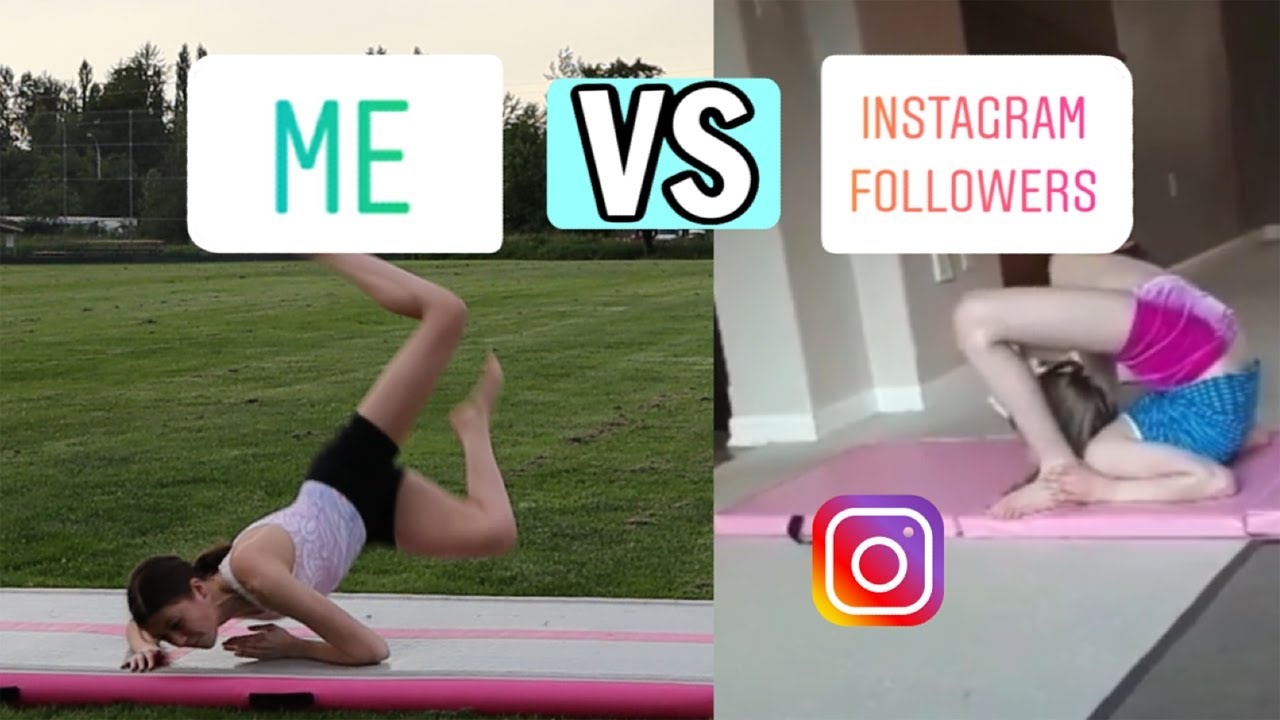 Me VS My Instagram Followers GYMNASTICS! 🤸🏼♂️ | Bethany G