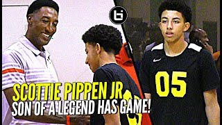 Scottie Pippen Jr vs Top D1 Talent at Nike Elite 100 Camp! Son of NBA Legend Has Game!