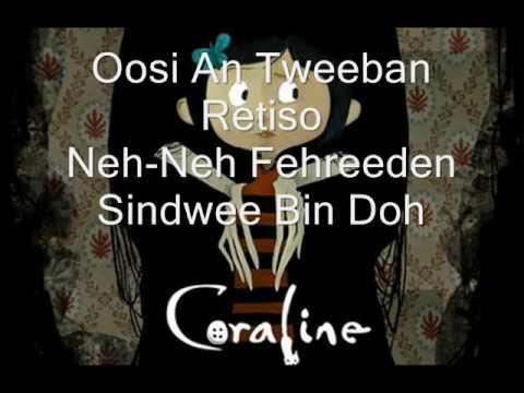 Coraline-ending title with lyrics.
