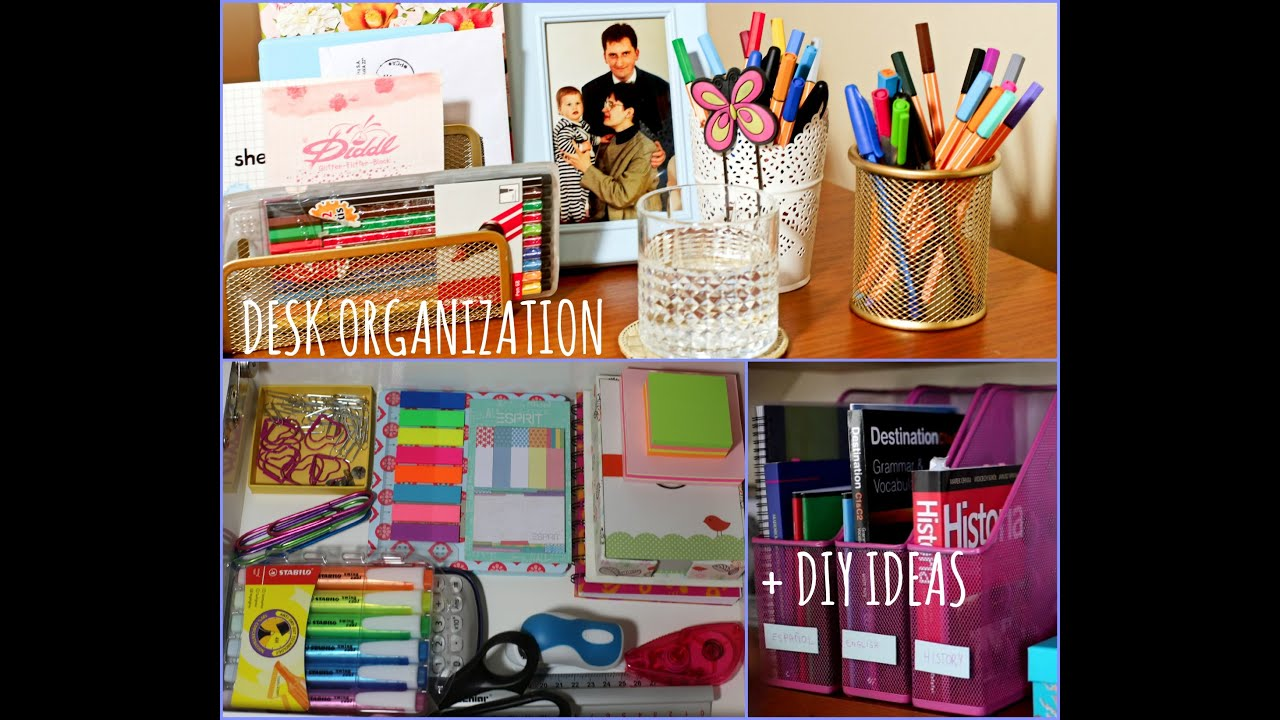 Desk organization diy ideas back to school youtube - How to organize your desk at home for school ...