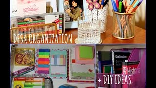 Desk Organization + Diy Ideas | Back To School