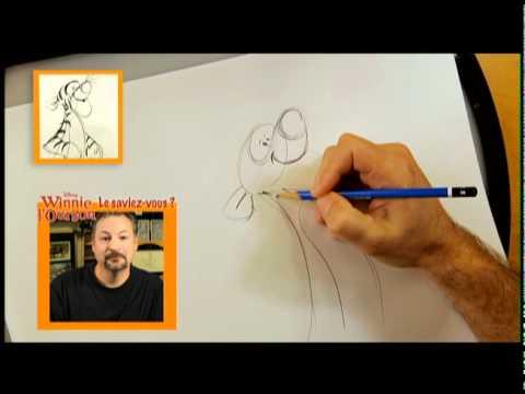 Winnie l 39 ourson featurette comment dessiner tigrou - Comment dessiner winnie l ourson ...