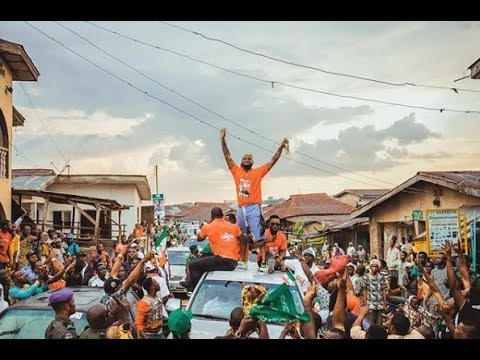 DAVIDO STORMS EDE WITH MASSIVE CROWD FOR HIS UNCLE'S GOVERNORSHIP CAMPAIGN