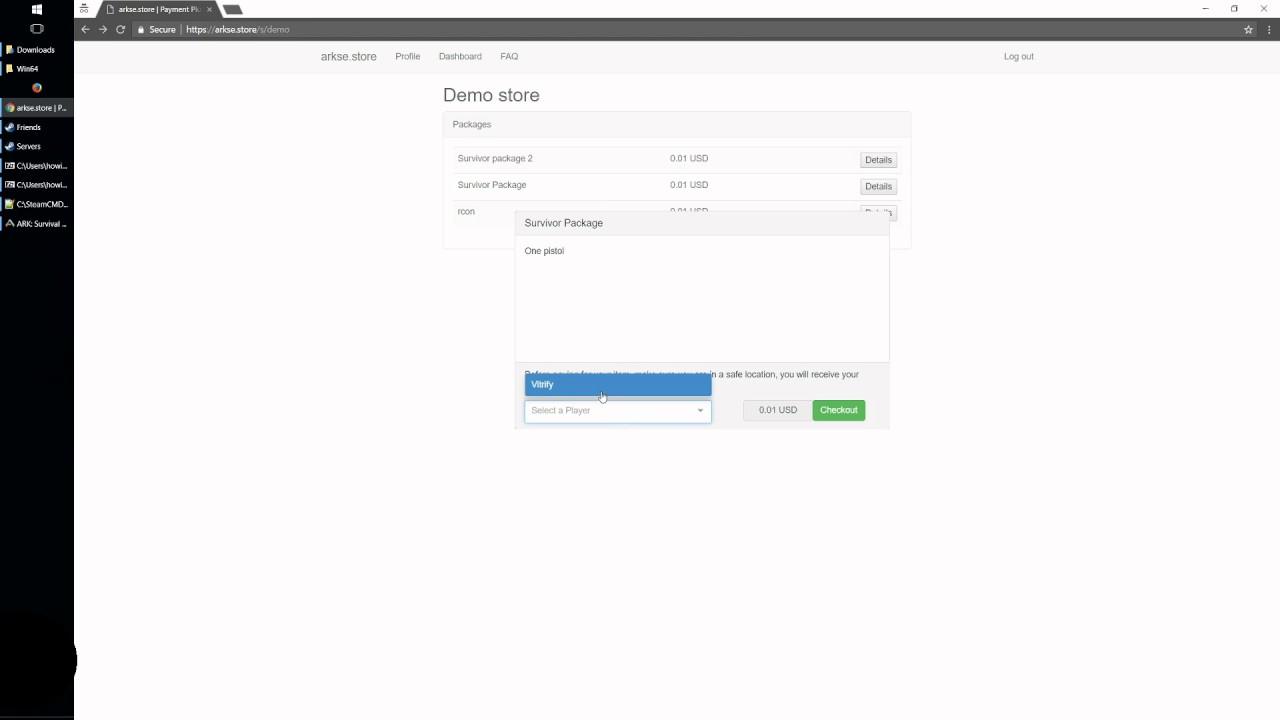 Server Plugin] arkse store - instant donation rewards - Server