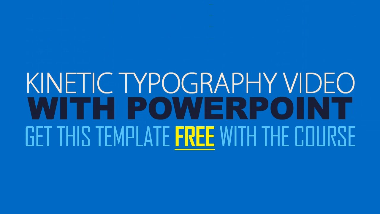 kinetic typography explainer video with powerpoint - youtube, Modern powerpoint