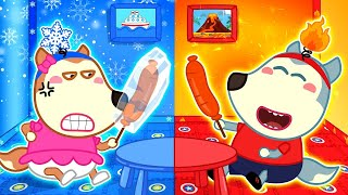 🔴 LIVE: Baby Wolf and Hot vs Cold Challenge | Wolfoo for Kids