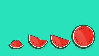 Adobe Illustrator Logo/Icon Designing Speed-Art 1080p (Watermelon logo)