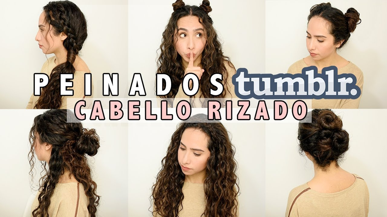 Peinados Tumblr Faciles Cabello Rizado Largo Youtube