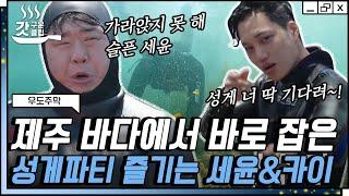 [#우도주막] 성게 원정대 문세윤 X 카이가 일냈다 직…