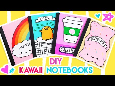 DIY Kawaii Notebooks For Back-to-School! 💕