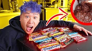 Melting Every Chocolate Bar Together Science Experiment THEN EATING IT TASTE TEST!!!!
