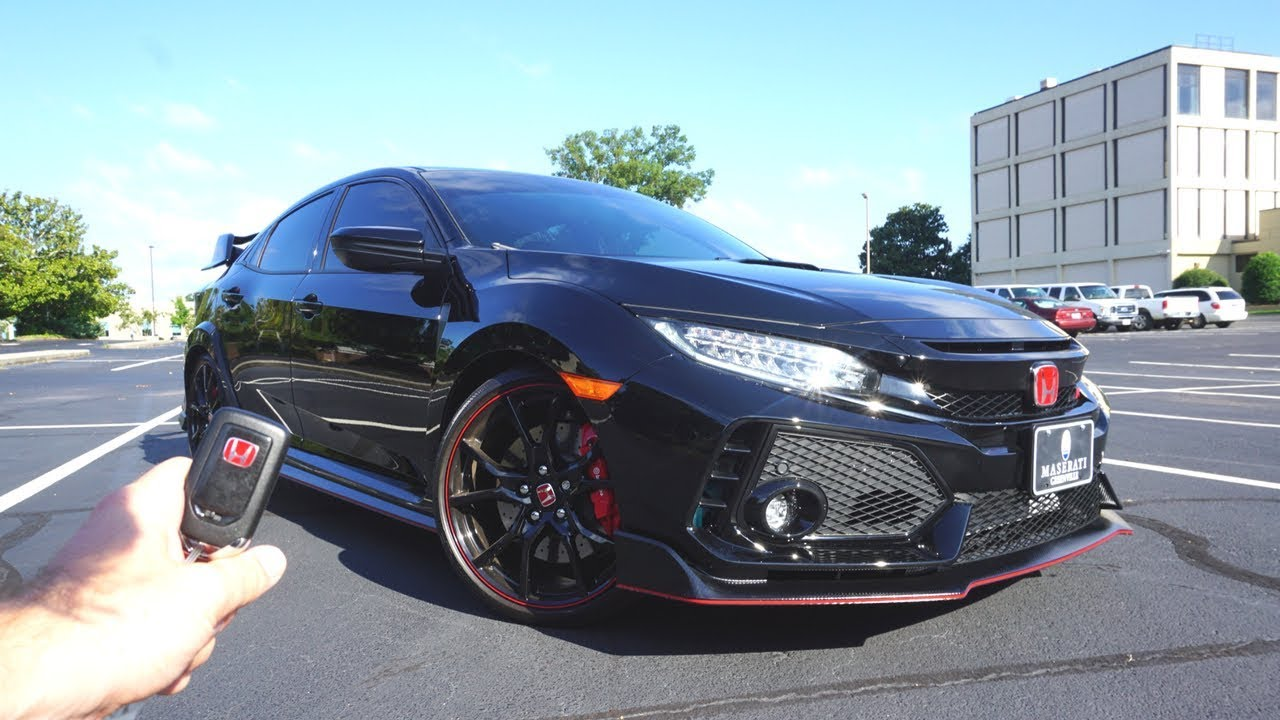 2017 Honda Civic Type-R: Start Up, Exhaust, Test Drive and ...