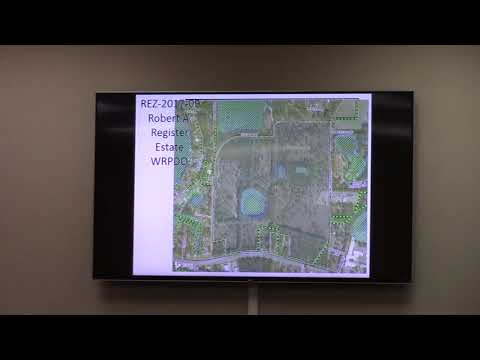 6. REZ-2017-09 Robert A. Register Estate Rezone ~138 acres from R-1 to R-10 & C-C