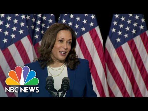 Sen. Harris Gives First Speech As Biden's Running Mate: 'I Am Ready To Work' | NBC News