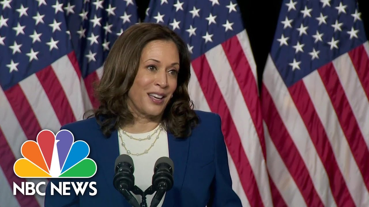 Sen. Harris Gives First Speech As Biden's Running Mate - NBC News