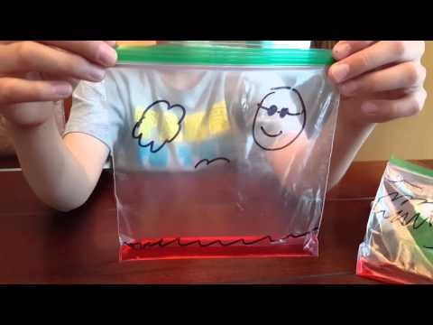 Water Cycle Experiment - Making it Rain in a Bag
