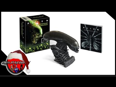 Alien Hissing Xenomorph and Illustrated Book with sound