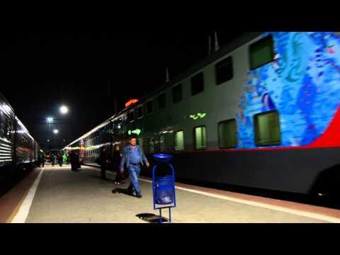 Краснодар. Прибытие двухэтажного поезда