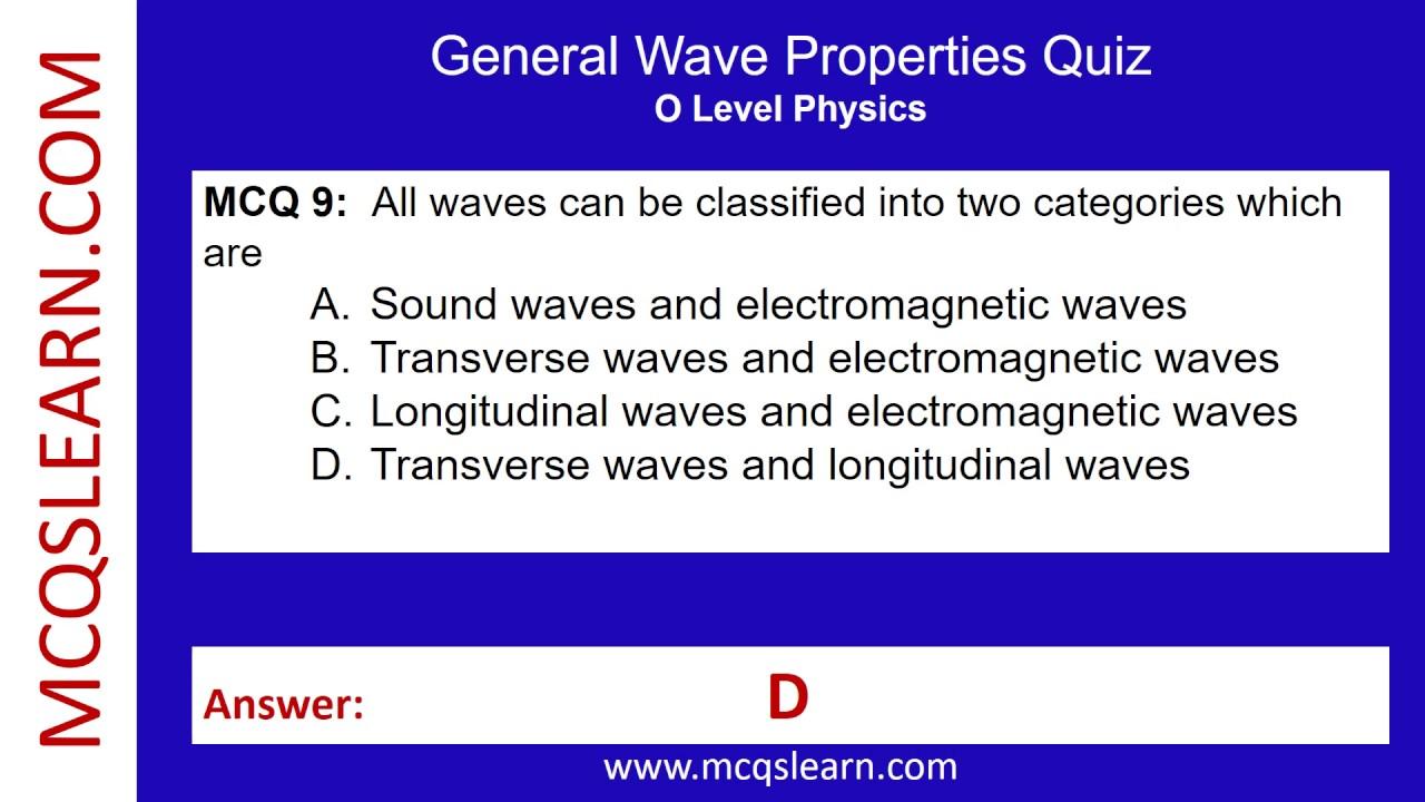 General Wave Properties Quiz - MCQsLearn Free Videos