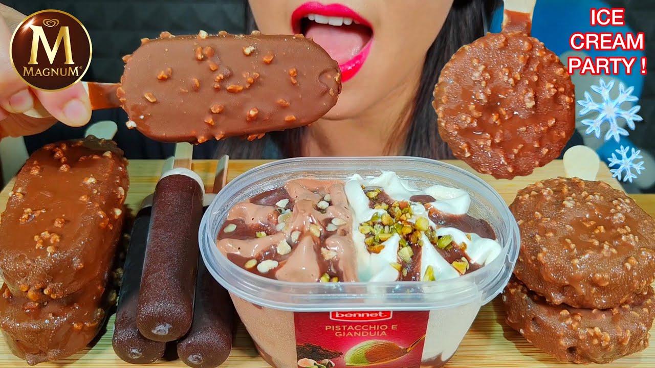 ASMR ICE CREAM PARTY 아이스크림 Kem Que Es krim आइसक्रीम MUKBANG 먹방 MASSIVE Eating Sounds