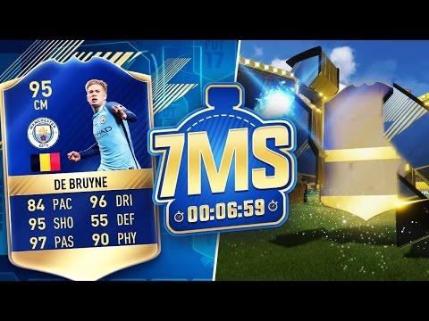 90+ TOTS IN A PACK!! 🔥 95 DE BRUYNE 7 MINUTE SQUAD BUILDER!! - FIFA 17 ULTIMATE TEAM